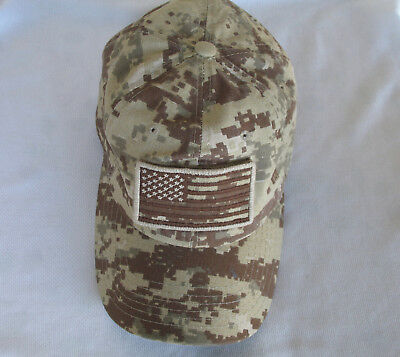 New Desert Camouflage American Flag Baseball Cap Military Style Snapback  Camouflage Military Style Cap