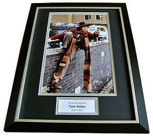 TOM-BAKER-SIGNED-FRAMED-AUTOGRAPH-PHOTO-MOUNT-DISPLAY-DOCTOR-WHO-TIME-LORD-COA