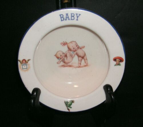 Antique 1920s/30s KEWPIE Pottery BABY BOWL - Made in Czechoslovakia