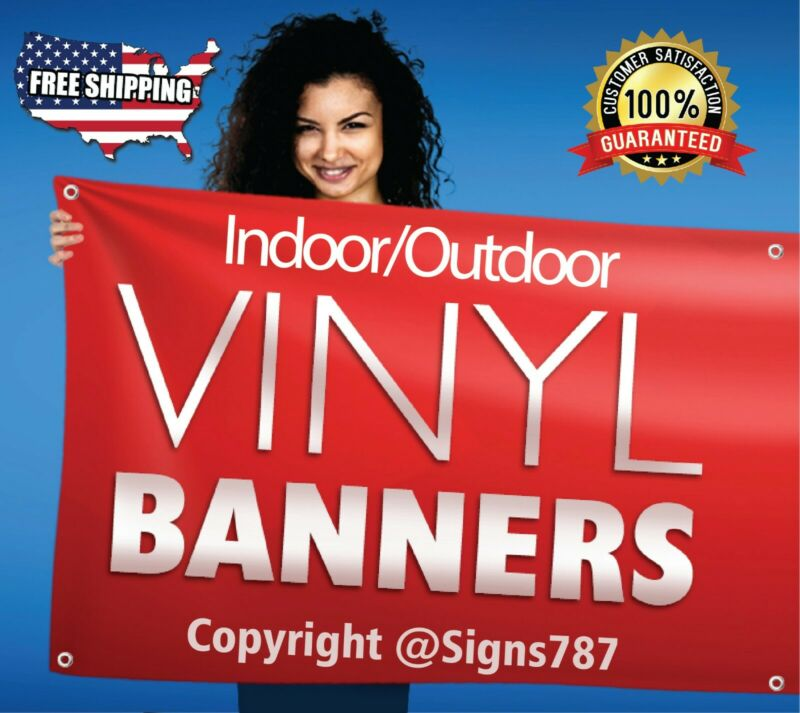 4 x 8 Custom Vinyl Banner 13oz Full Color - Free Design Included