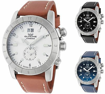 Glycine Men's Airman 42 GMT 42mm Quartz - Choice of Color