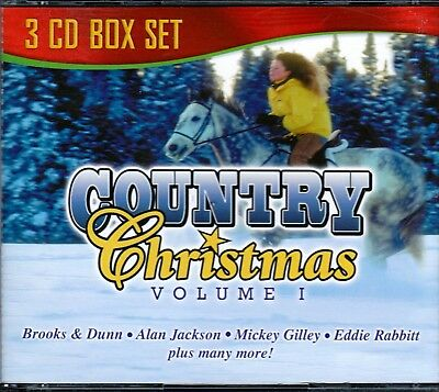 Country Christmas Volume 1 3CD Box MICKEY GILLEY SMOKEY MOUNTAIN ALAN JACKSON
