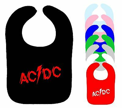 Dc-bib (AC/DC BIB ACDC BACK IN BLACK POWERAGE ROCK METAL MUSIC BAND BIB ASST COLOURS NEW)