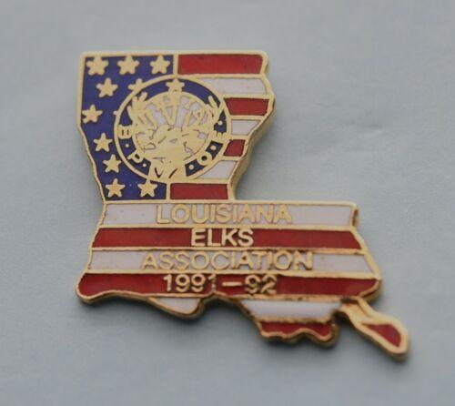 BPOE  LOUISIANA STATE ELK  ASSOCIATION  PIN. VINTAGE 1991-1992