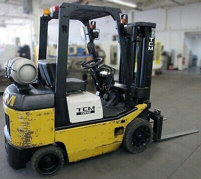 Tcm Fcg - 25 Forklift 4450 Lb. Capacity Lpg Side Shift Forks N-011