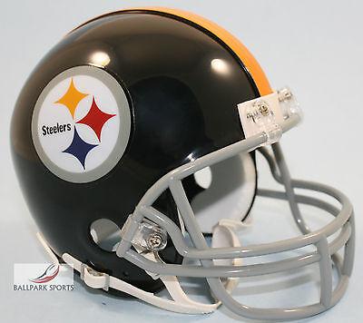 (PITTSBURGH STEELERS (1963-1976 Throwback) Riddell VSR4 Mini Helmet)