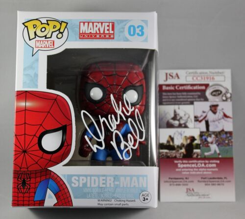 DRAKE BELL SIGNED MARVEL SPIDERMAN FUNKO POP FIGURE ULTIMATE AUTOGRAPH JSA COA