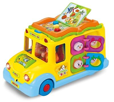 Activity School Bus (School Bus Musical Activity Toy Vehicle with Lights, Sounds & Music for)