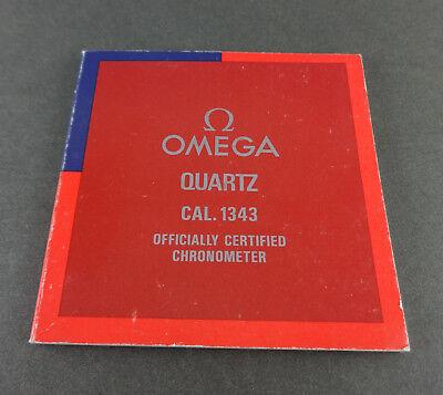 OMEGA Quartz Caliber 1343 Booklet in 4 Languages Eng, Spa, Ger, Fr, Ita, Chi (Chi Omega Watch)