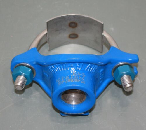 """Smith-Blair Iron Repair Clamp 31500035407000, 3"""" Pipe, Service Saddle, 3/4"""" Out"""