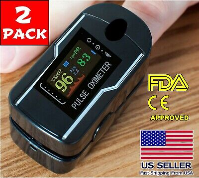 Finger Pulse Oximeter Blood Oxygen Spo2 Monitor Pr Saturation Heart Rate Fda Ce