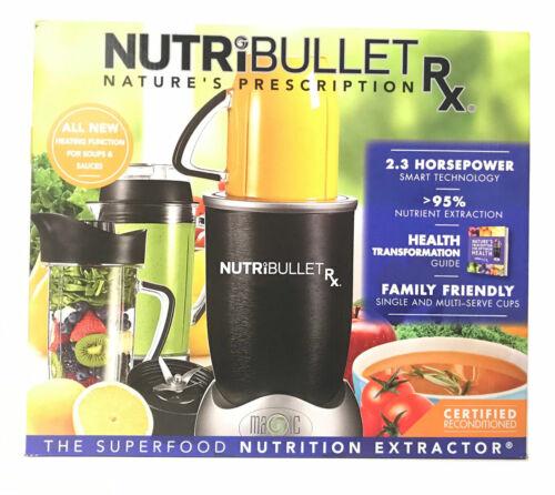NutriBullet RX 1700-Watt 45oz Food Juice Blender Nutri-Bullet N17-1001 10 Pieces
