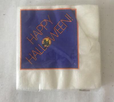 Vintage New Sealed Hallmark 16 Count Happy Halloween Paper Napkins Witch
