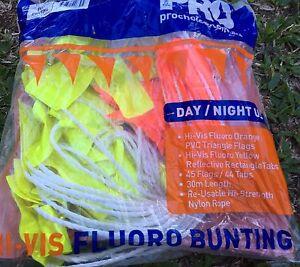Hi vis flouro bunting Day and night Boyne Island Gladstone City Preview