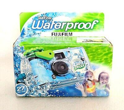 New FujiFilm Disposable Quick Snap Waterproof Camera 27 Exposures Expired 01/15