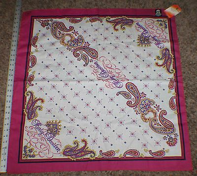 VTG Deadstock NEW Harley Davidson Womens Ladies LARGE OVERSIZE Bandana Kerchief