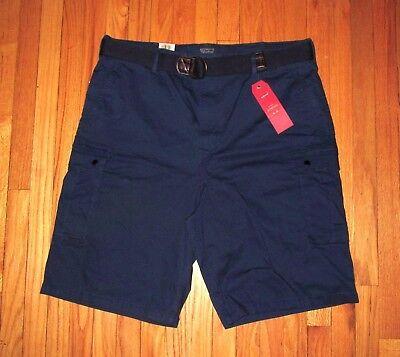 Levis Mens Dark Blue 2-Way Stretch Cargo Shorts and Belt 30 NWT (2 Way Stretch Short)