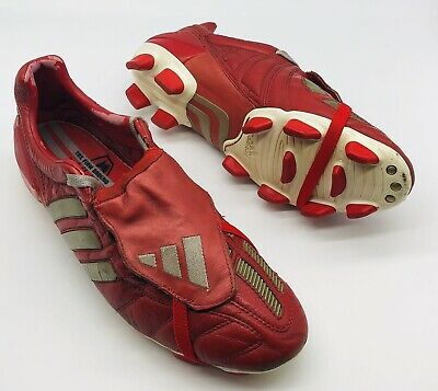 2002 ADIDAS PREDATOR MANIA FIRM GROUND RED UK SIZE 10 US 10.5 FOOTBALL BOOTS