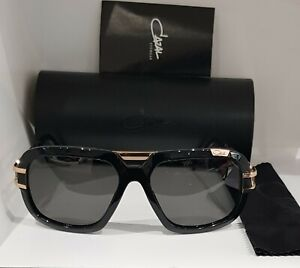 fe0d0915b4 Used Sunglasses Cazal 8015 001 59 17 135 Black Gold 100% Authentic