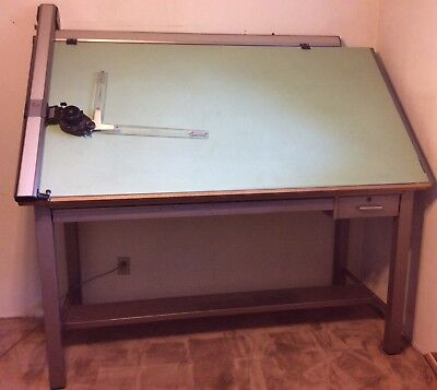 Vintage Mayline Drafting Drawing Table 72 Mutoh Model-l Drafting Machine Head