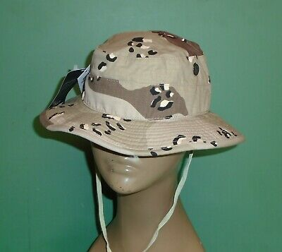 US Military Propper Desert Chocolate Chip Camo Boonie Sun Hat Gulf War Size 7