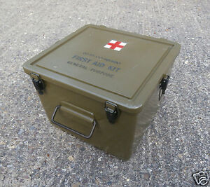 Genuine US Army First Aid Box General Purpose Storage Ammo Box Military Surplus