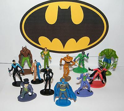 Batman Party Favors Set of 12 Figures with All the Classic Characters Joker - Jokers Party Supplies
