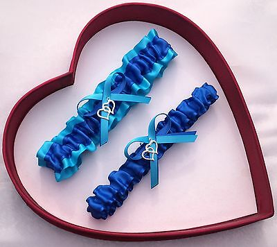NEW Sexy Inspirational Bridal Wedding Garter Royal Blue Turquoise Prom Special