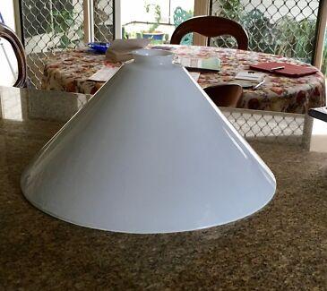 Vintage Milk Glass Light Shade 340mm Diameter