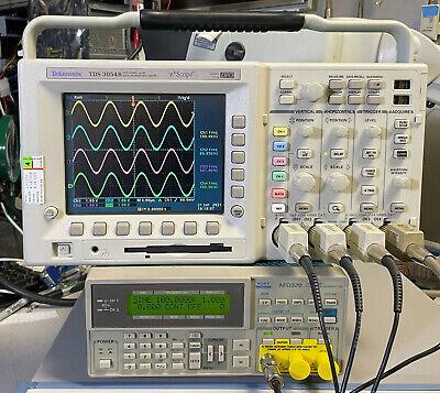 Tektronix Tds3054b 4 Ch Dpo Oscilloscope 500mhz 5gsas Trg Fft Vid Aam Lim Tmt