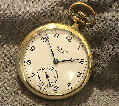 Ingersoll Reliance, vintage pocket watch, working but sold for spares or repair