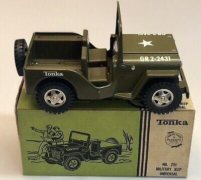 Vintage Tonka Military Jeep Universal No. 251 w/ Box - All Original