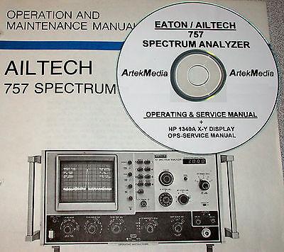 Ailtech 757 Spectrum Analyzer  Hp 1340a Display Operating Service Manuals