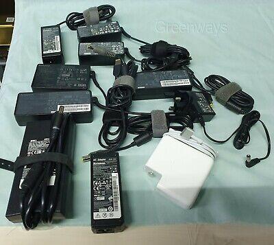 Job lot 10 Mixed Lenovo HP Dell Apple Ac Adapters LA130PM121,ADLX45NCC3 A1424