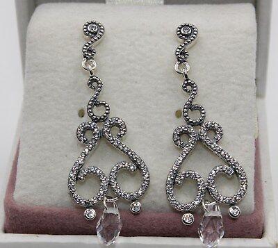 AUTHENTIC PANDORA Chandelier Droplets Drop Earrings 297088CZ  #1421 - Pearl Earrings Droplets