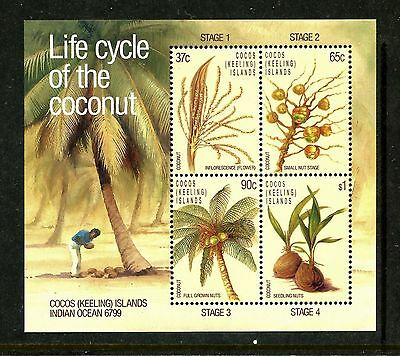 The Life Cycle Of A Plant (Cocos Island 176a, MNH,1988 Life Cycle of the Coconut )