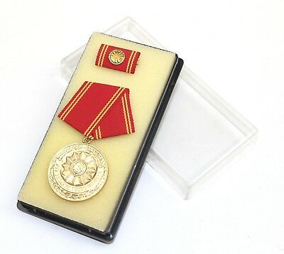 DDR NVA EAST GERMAN POLICE BOXED SERVICE MEDAL 25 YEAR SERVICE
