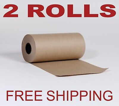 2 Rolls - 12 X 1200 Brown Kraft Paper Roll 30lb Shipping Wrapping Packaging