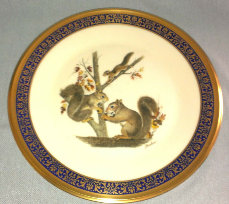 1979 LENOX presents WOODLAND WILDLIFE * SQUIRRELS *  BOEHM Collectors Plate