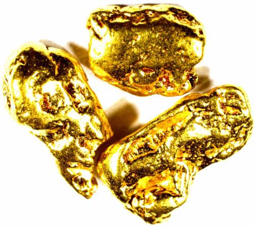 3 PIECE LOT ALASKAN YUKON BC NATURAL PURE GOLD NUGGETS FREE SHIPPING (#L253)