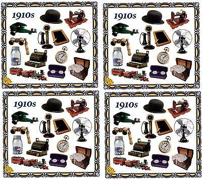 Frances Meyer 1900/'s Scrapbook Stickers Antique 4 Sheets