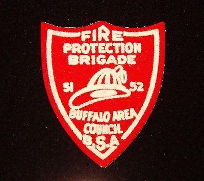 BOY SCOUT BUFFALO AREA COUNCIL 1952 FIRE BRIGADE FELT PP NY