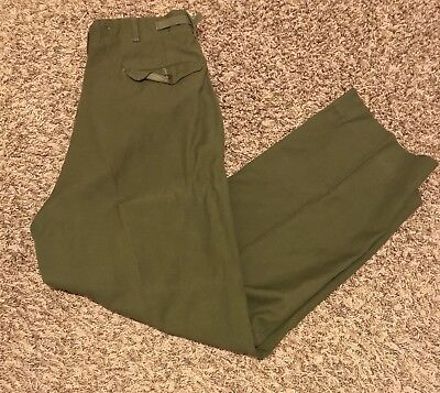 VINTAGE US Army M 1951 Korean War Wool Field Trousers Green Medium Regular