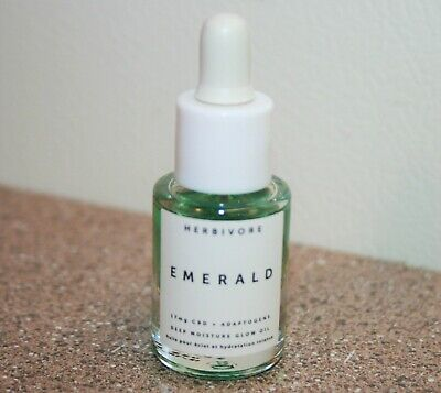 Herbivore Emerald Deep Moisture Glow Oil 0.17 oz .17 5mL Travel Size Adaptogens