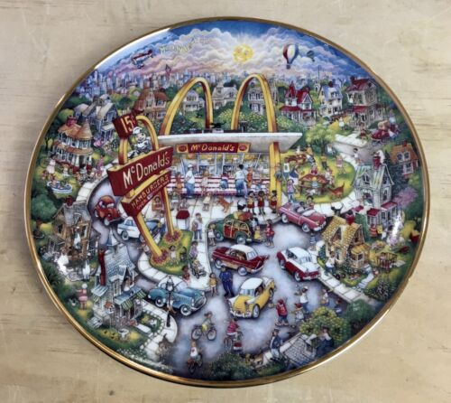 Vintage Franklin Mint McDonalds Golden Moments by Bill Bell Collector Plate