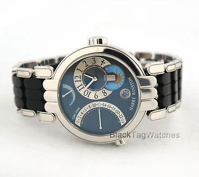 Harry Winston Premier Excenter Time Zone Retrograde 200/MMTZ39WWC Wristwatch