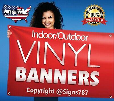 6 X 6 Custom Vinyl Banner 13oz Full Color - Free Design Included Rolled Ship