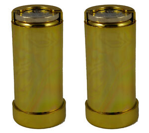 2 x One Pound £1 Coin Holder Gadget Holds Up to 15 Coins Gold Coloured