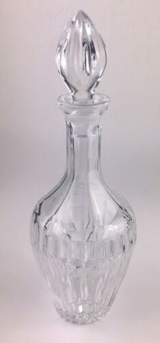 "Large 13"" Cut Crystal Glass Liquor Wine Decanter with Stopper"