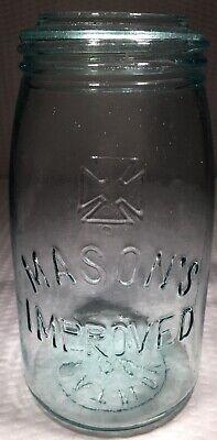 1/2gal mason's cross improved ~ green canning jar